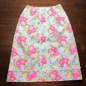 Vintage Lilly Pulitzer Lace Detail Skirt